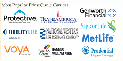 Term, Whole and Universal Life Insurance Companies